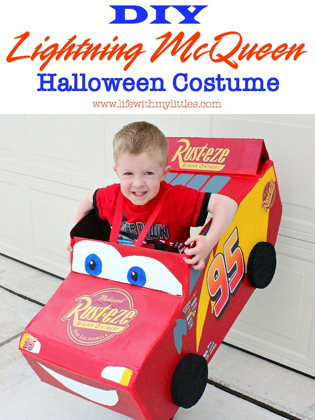 DIY Lightning McQueen Costume - Life With My Littles