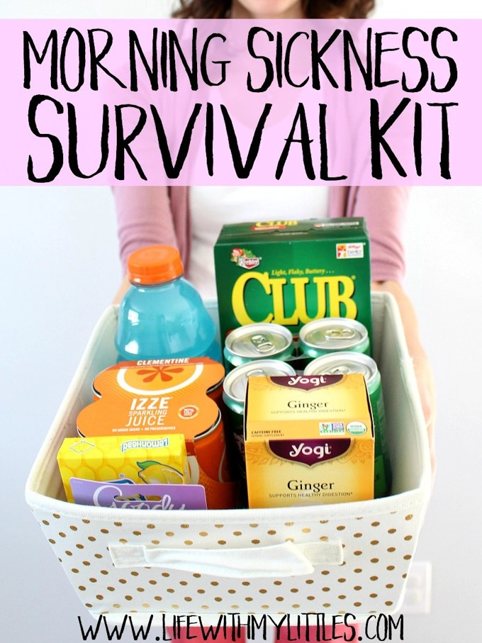 This morning sickness survival kit is full of things to help any pregnant woman treat morning sickness! It makes a great gift, or just buy everything for yourself!