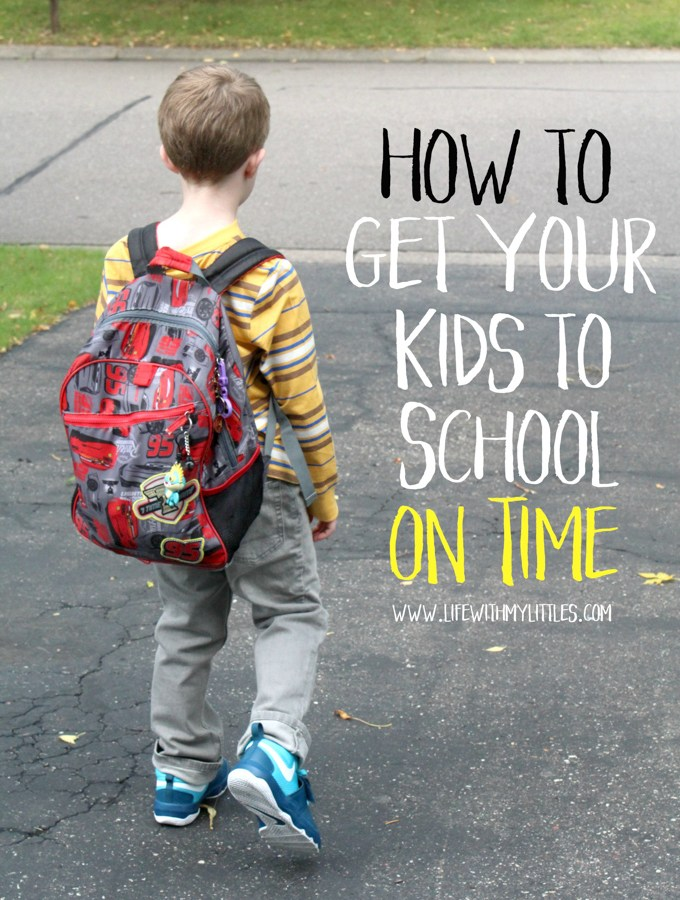 Whether you're notoriously late, or on time every day, these tips are great to implement into your morning routine to help you get your kids to school on time!