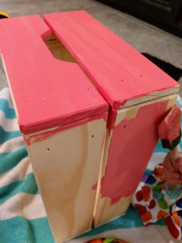 diy ikea knagglig children 39 s coloring book wooden crate. Black Bedroom Furniture Sets. Home Design Ideas