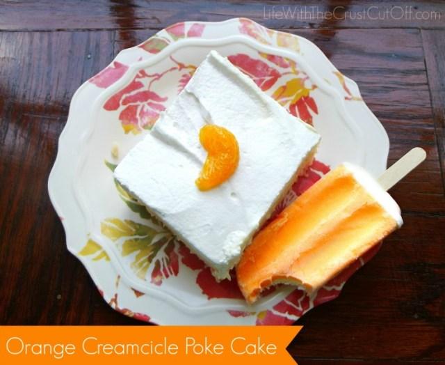 Creamcicle Poke Cake