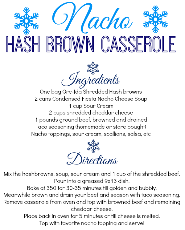 Nacho Hash Brown Casserole Recipe #shop #cbias #OreIdaHashbrn