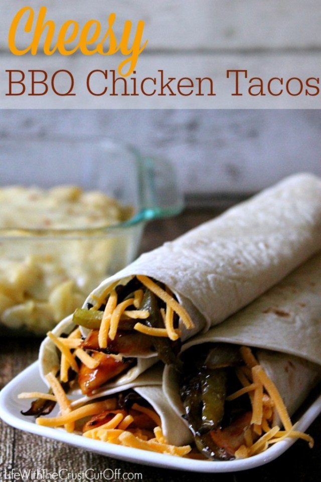 Cheesy BBQ Chicken Tacos #RollIntoSavings #CollectiveBias