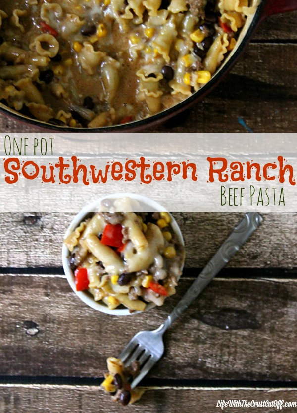 One Pot Southwestern Ranch Pasta #FoodDeservesDelicious #CollectiveBias