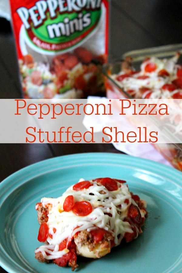 Pepperoni Pizza Stuffed Shells #PepItUp #CollectiveBias