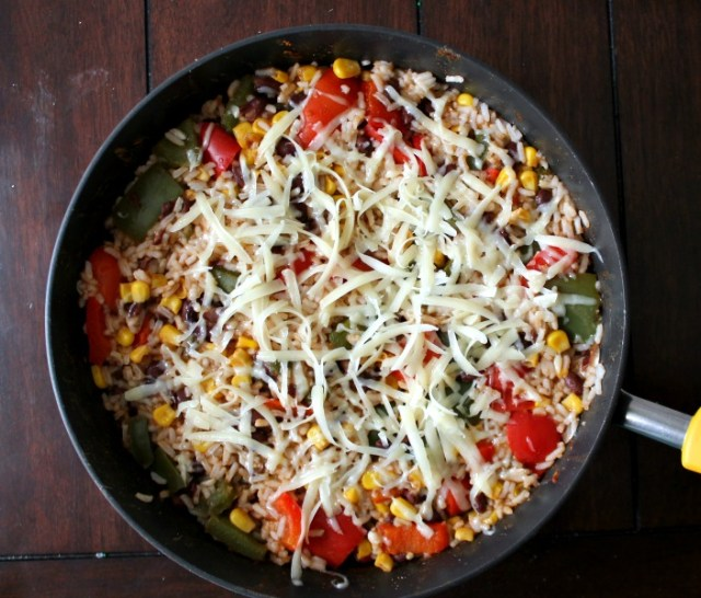 Cheesy Southwest Stuffed Pepper Skillet
