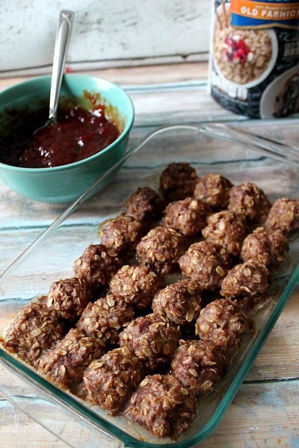 Par Cooked Meatballs #QuakerUp #MyOatsCreation #CollectiveBias