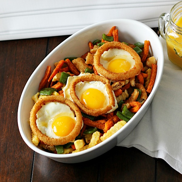 Egg, Fry and Ring Hash #SpringIntoFlavor #CollectiveBias