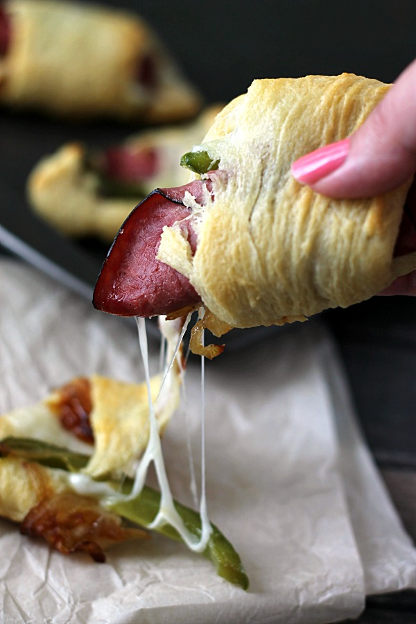Cheese Steak Crescents, the perfect quick and yummy dinner!