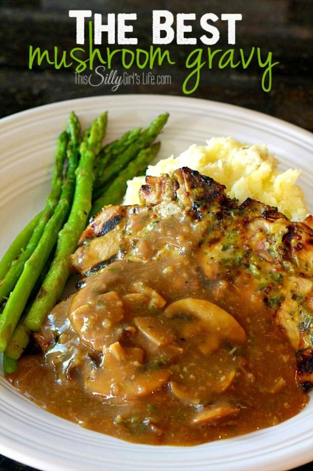 the best mushroom gravy from ThisSillyGirlsLife