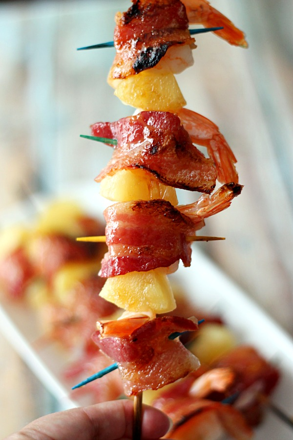 Bacon Shrimp Skewer