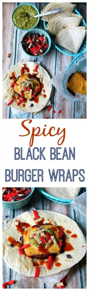 Spicy Black Bean Burger Wraps #GrillWithATwist #CollectiveBias