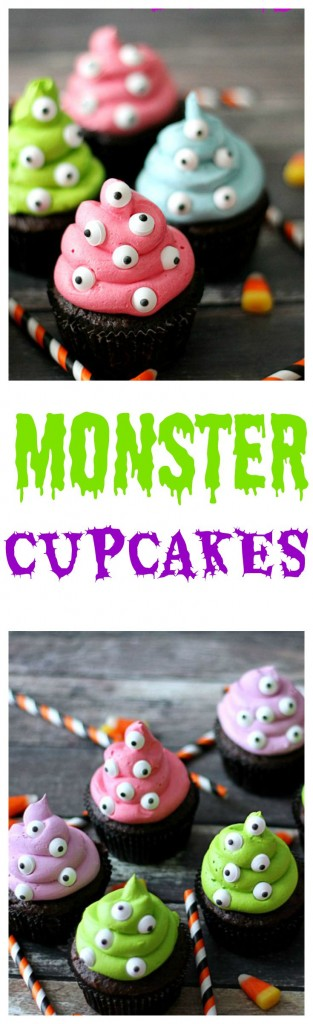 Monster Cupcakes, so easy to make and the perfect Halloween treat!!