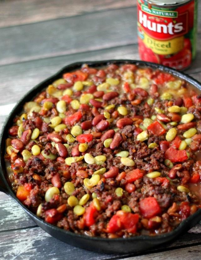 Beans in pan