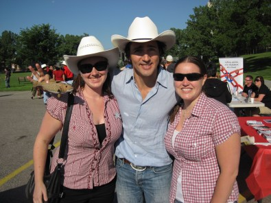 With (not yet) Prime Minister Justin Trudeau!