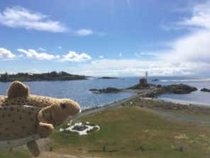 Looking out at the Fisgard Lighthouse