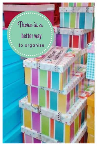 Organise more or organise less? 1