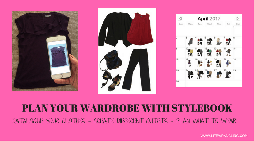 How to use the wardrobe organisation app Stylebook to plan your weekly outfits, using photos of your real clothes.