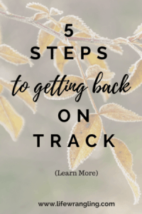 5 steps to getting back on track