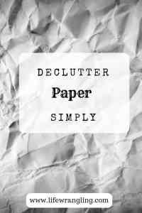 Declutter papers 5