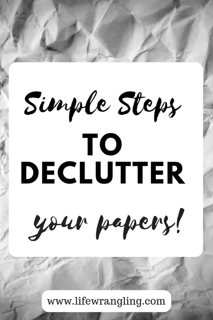 Simple tips to declutter paper 1