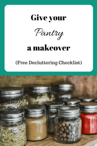 Declutter and Organize the pantry