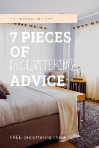 decluttering advice