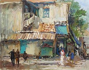 Ng Woon Lam, Singapore Artist Oil Painting, McKenzie Road