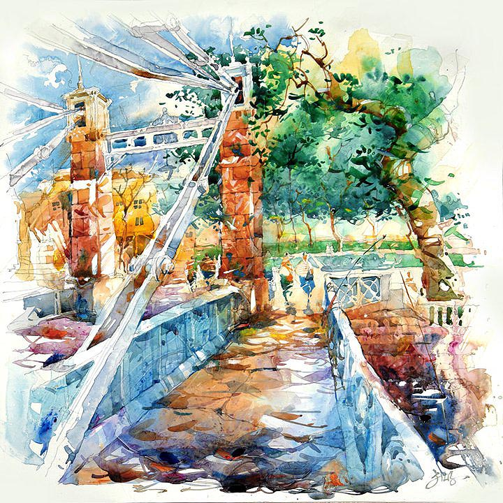 Singapore Empress Place Bridge Painting Jack Tia Kee Woon