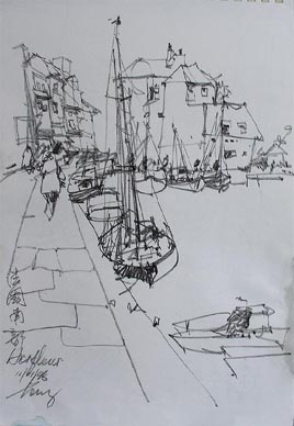Seascape Sketch No.2 by Tong