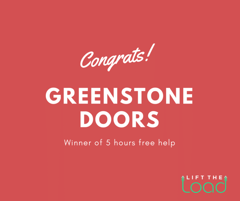 Congratulations to Greenstone Doors winner of 5 hours free help