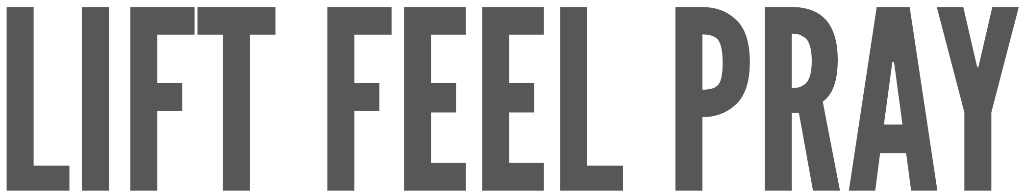 Logo for Lift Feel Pray