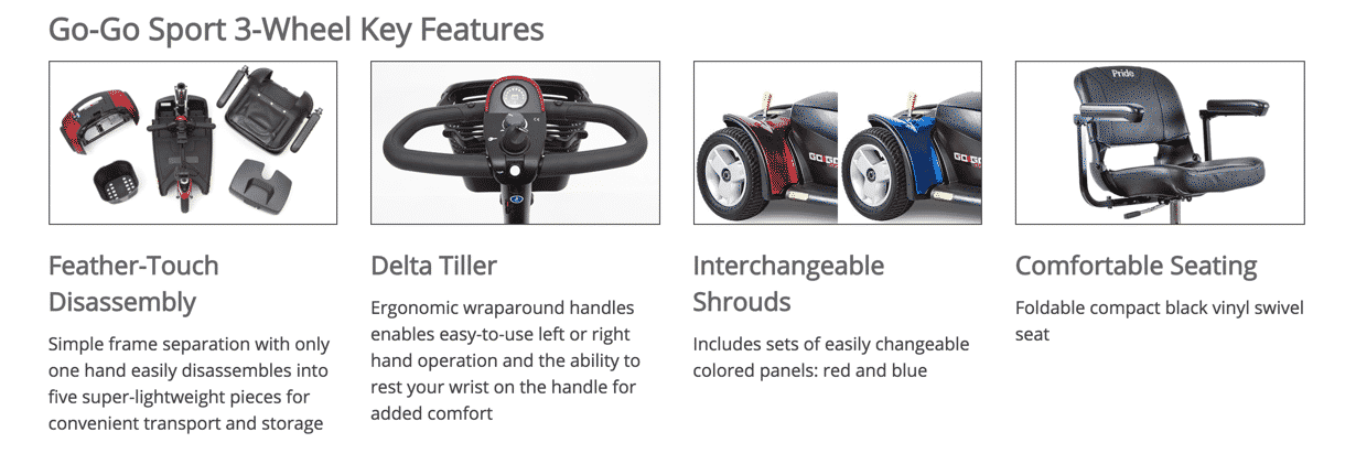 go-go sport 3 wheel