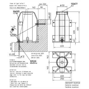 Portable Davit Galv & Stainless – 150kg – 275mm