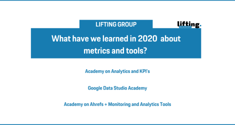 Lifting Academy: What have we learned in 2020 about metrics and tools?