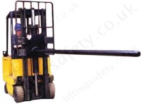 Fork Lift Truck Carriage Mounted Carpet Boom Attachment ...