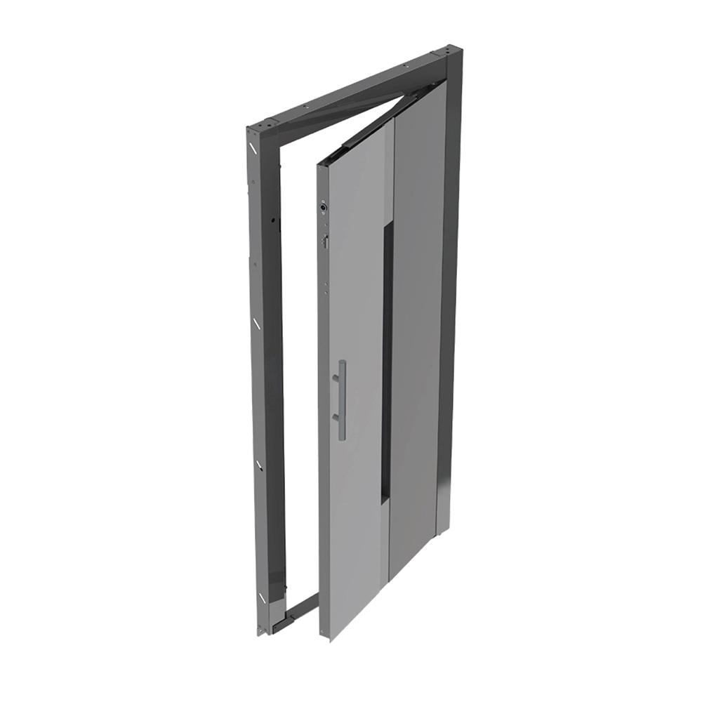 Semi-Automatic Hinged Landing Doors - Lift Material Australia