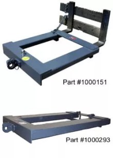 Trailer spotter - forklift attachment