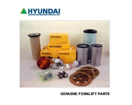 Genuine Hyundai Forklift parts