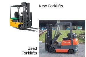New vs used Forklifts