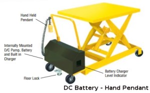 Portable light table duty DC power