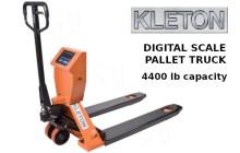 Digital scale pallet truck