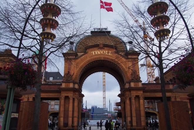 Tivoli Park em Compenhagen, Dinamarca