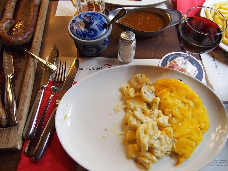 Restaurante Zeughauskeller em Zurique na Suíça - Comida