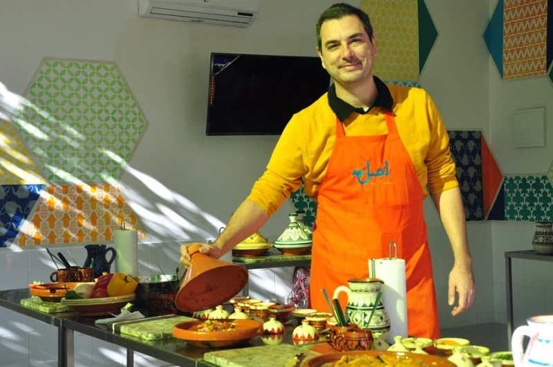 Natal em Marrocos - Aula de culinária no Amal Center