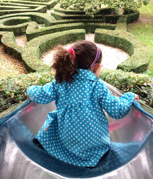 Primavera em Ettlingen - O grande escorregador e labirinto no Gatschina Park
