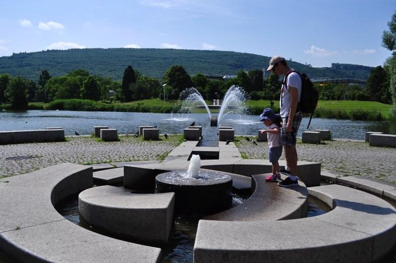 Primavera em Ettlingen - O lago do Horbach Park