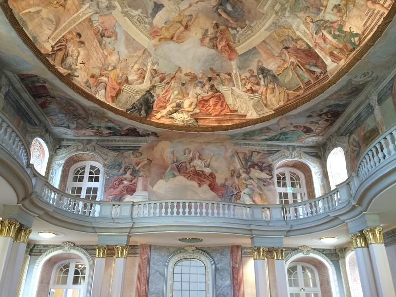 Castelo de Ettlingen Alemanha - Teto pintado pelo Cosmas Damian Asam