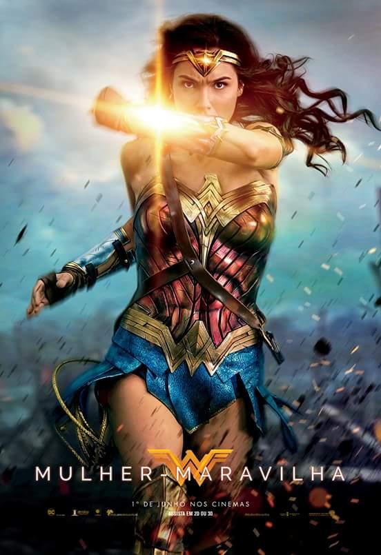 Crítica Filme Mulher Maravilha Wonder Woman 2017 - Poster