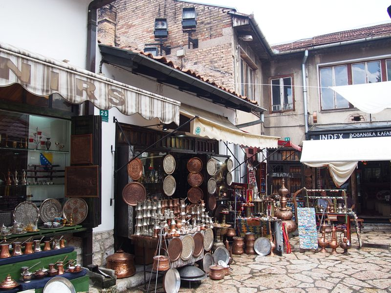 Sarajevo Bosnia e Herzegovina - Baščaršija, o centro antigo